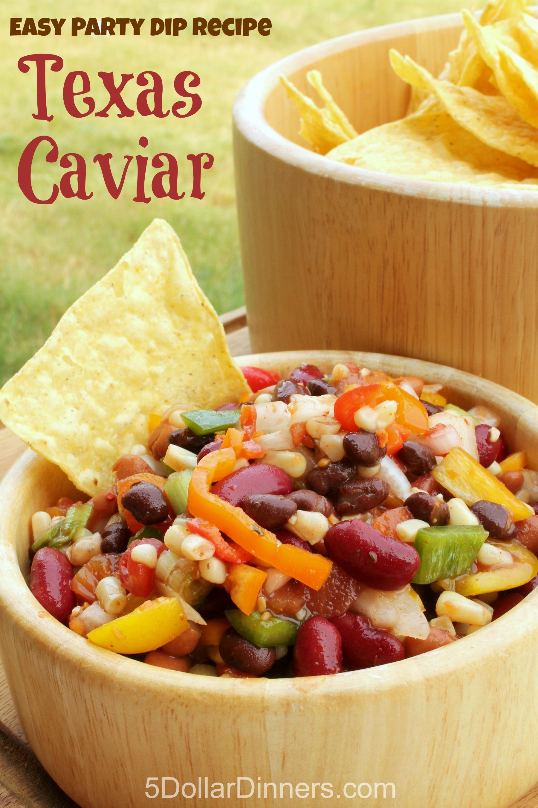 Easy Party Dip Recipe for Texas Caviar from 5DollarDinners.com