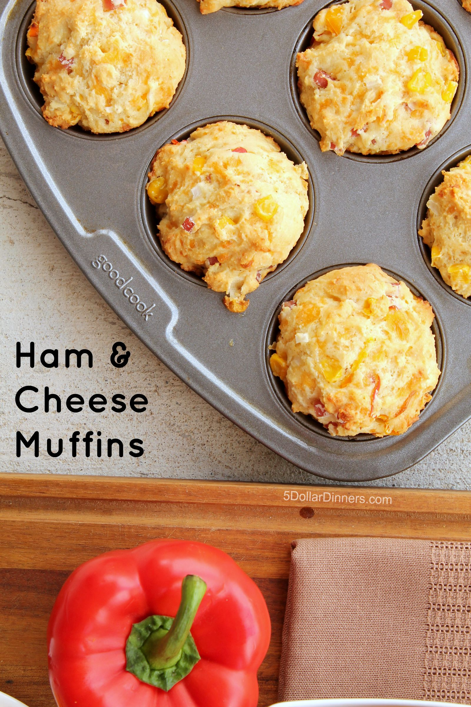 Ham and Cheese Muffins with Smithfield Anytime Favorites Diced Ham Recipe