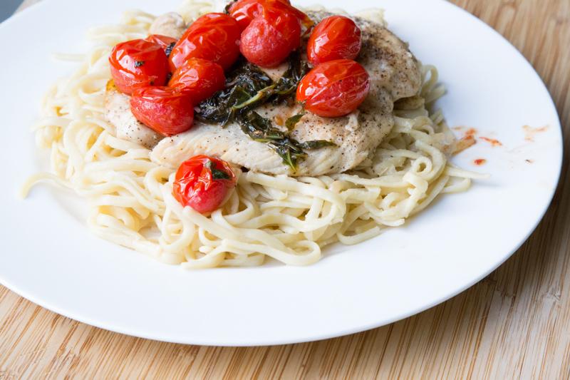 Tomato Basil Chicken & Linguini-3