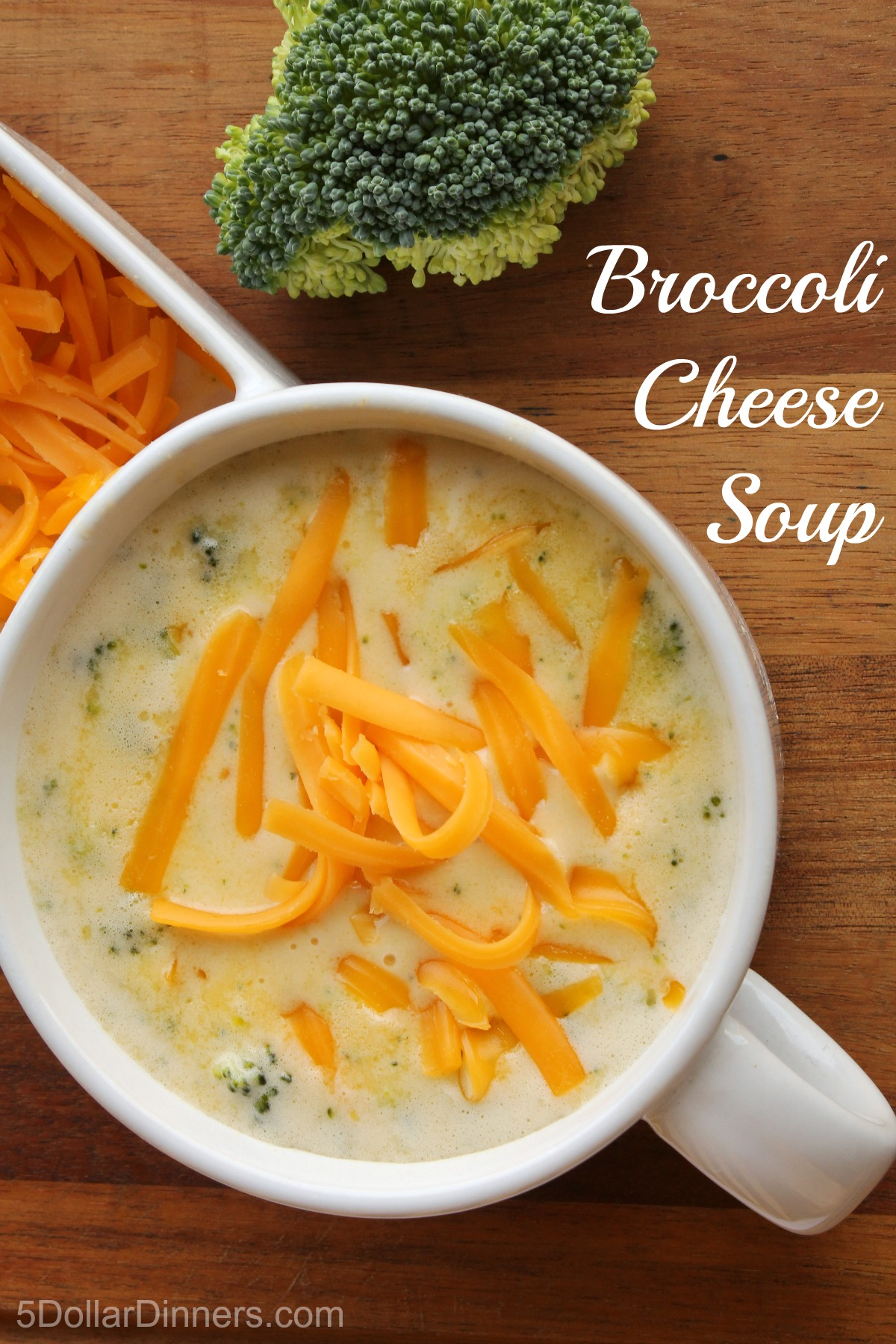 Broccoli Cheese Soup from 5DollarDinners.com