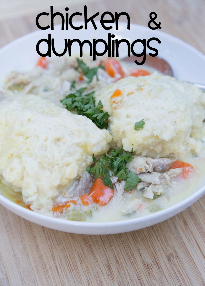 Chicken & Dumplings ~ NEW 31 Days of Chili, Soups & Stews