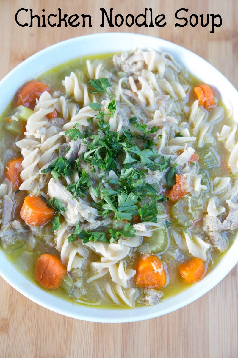 Homemade Chicken Noodle Soup on 5DollarDinners.com