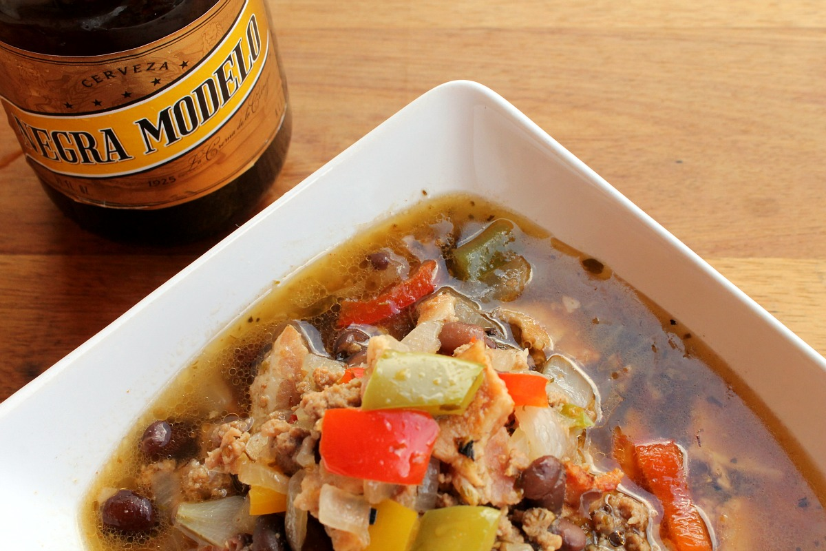 Negra Modelo Black Bean and Beef Soup