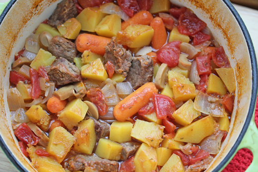 Dutch Oven Beef Stew with Butternut Squash