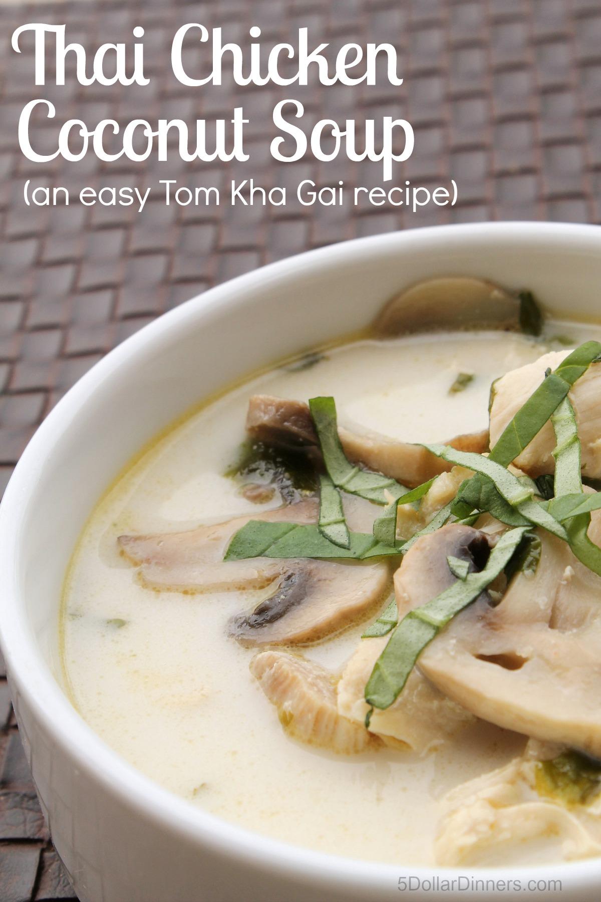 Thai Chicken Coconut Soup (Easy Tom Kha Gai)