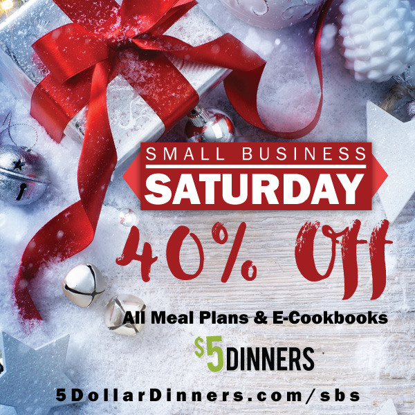 40% Off MEAL PLANS & E-COOKBOOKS in the $5 Dinners Store – Today & Tomorrow ONLY!