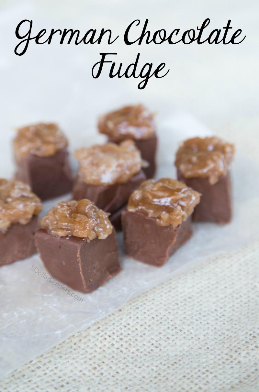 German Chocolate Fudge Recipe on 5DollarDinners.com