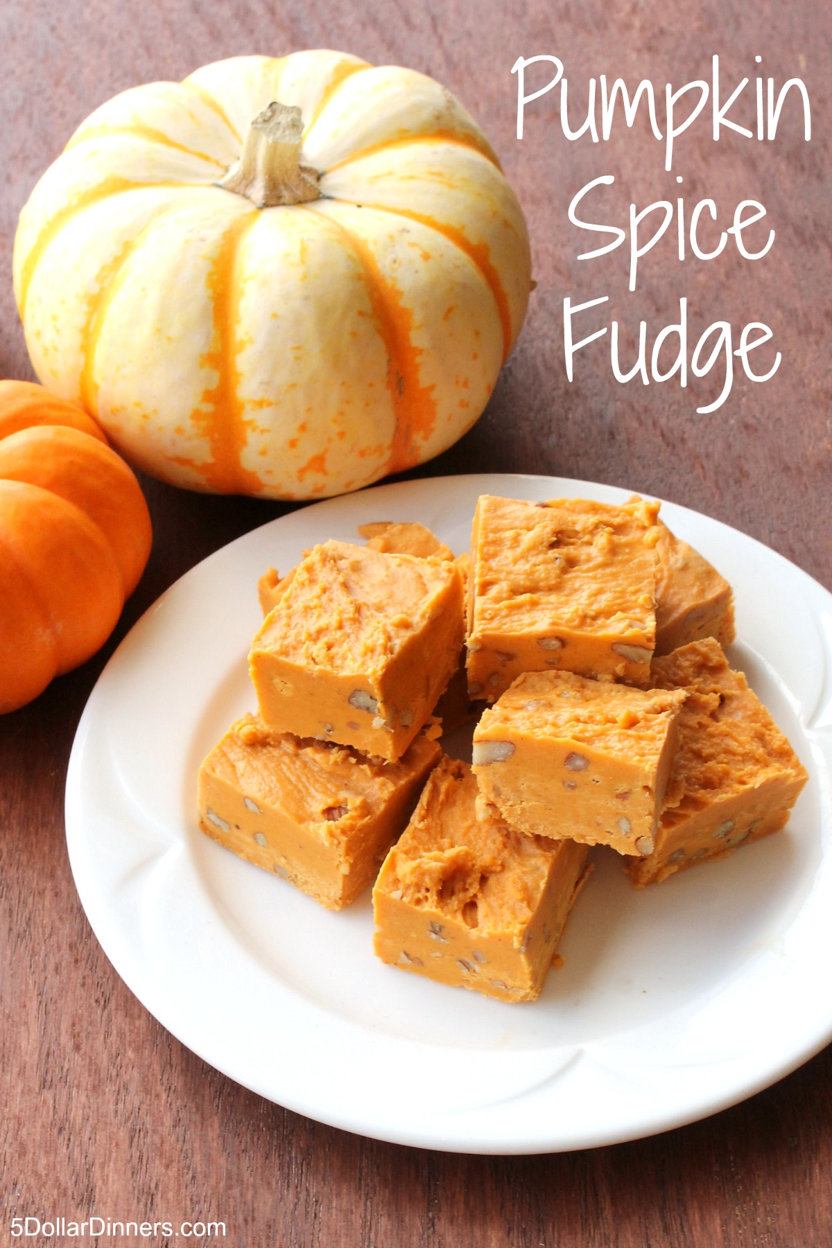 Pumpkin Spice Fudge from 5DollarDinners.com