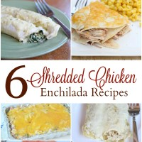 6 Shredded Chicken Enchilada Recipes from 5DollarDinners.com