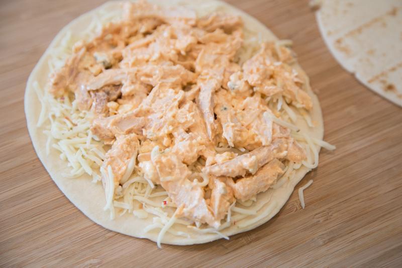Buffalo Chicken Quesadillas-3