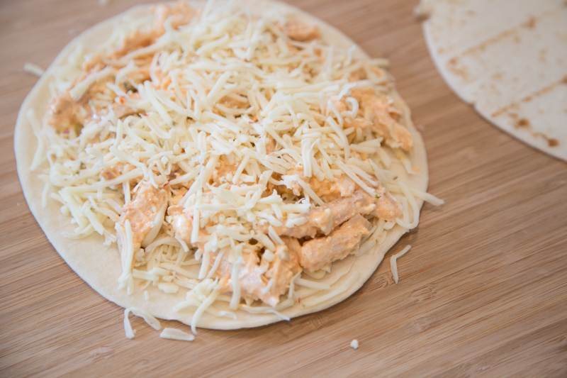 Buffalo Chicken Quesadillas-4