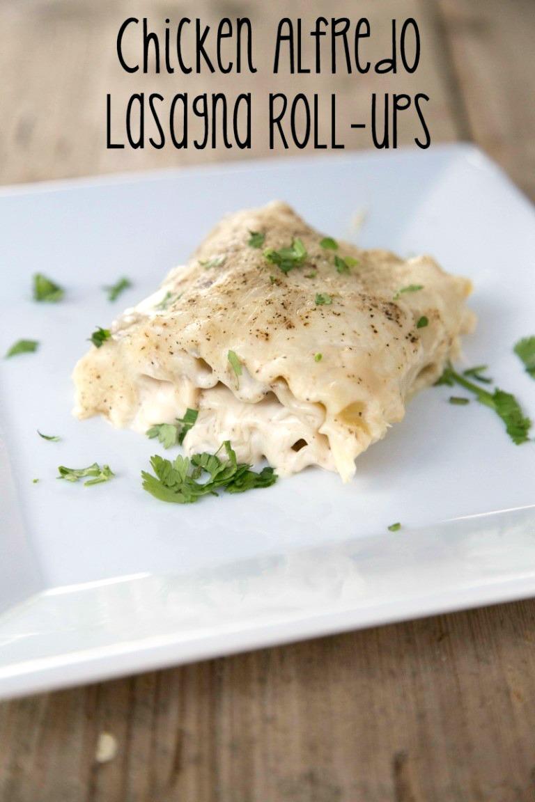 Chicken Alfredo Lasagna Rollsups from 5DollarDinners.com