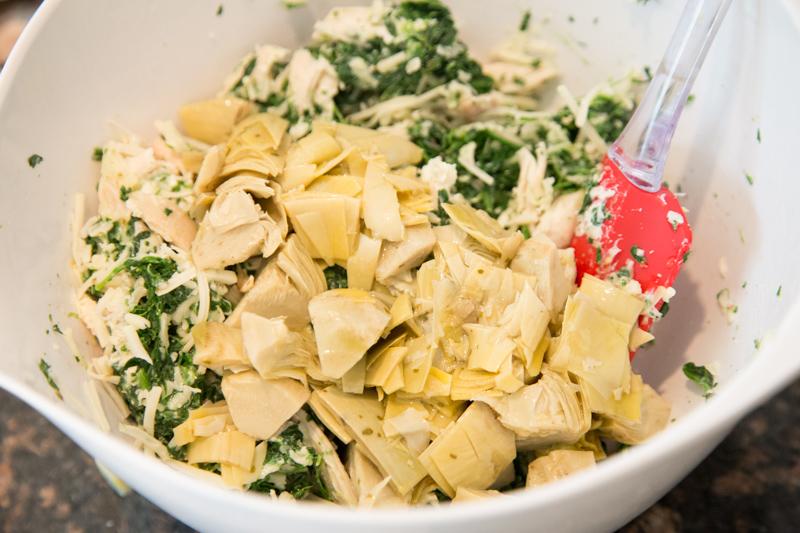 Chicken, Spinach & Artichoke Quesadilla-3