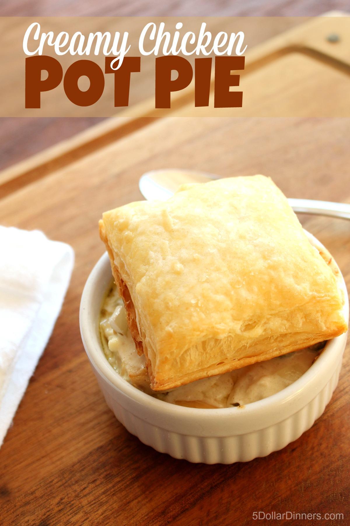 Creamy Chicken Pot Pie from 5DollarDinners.com
