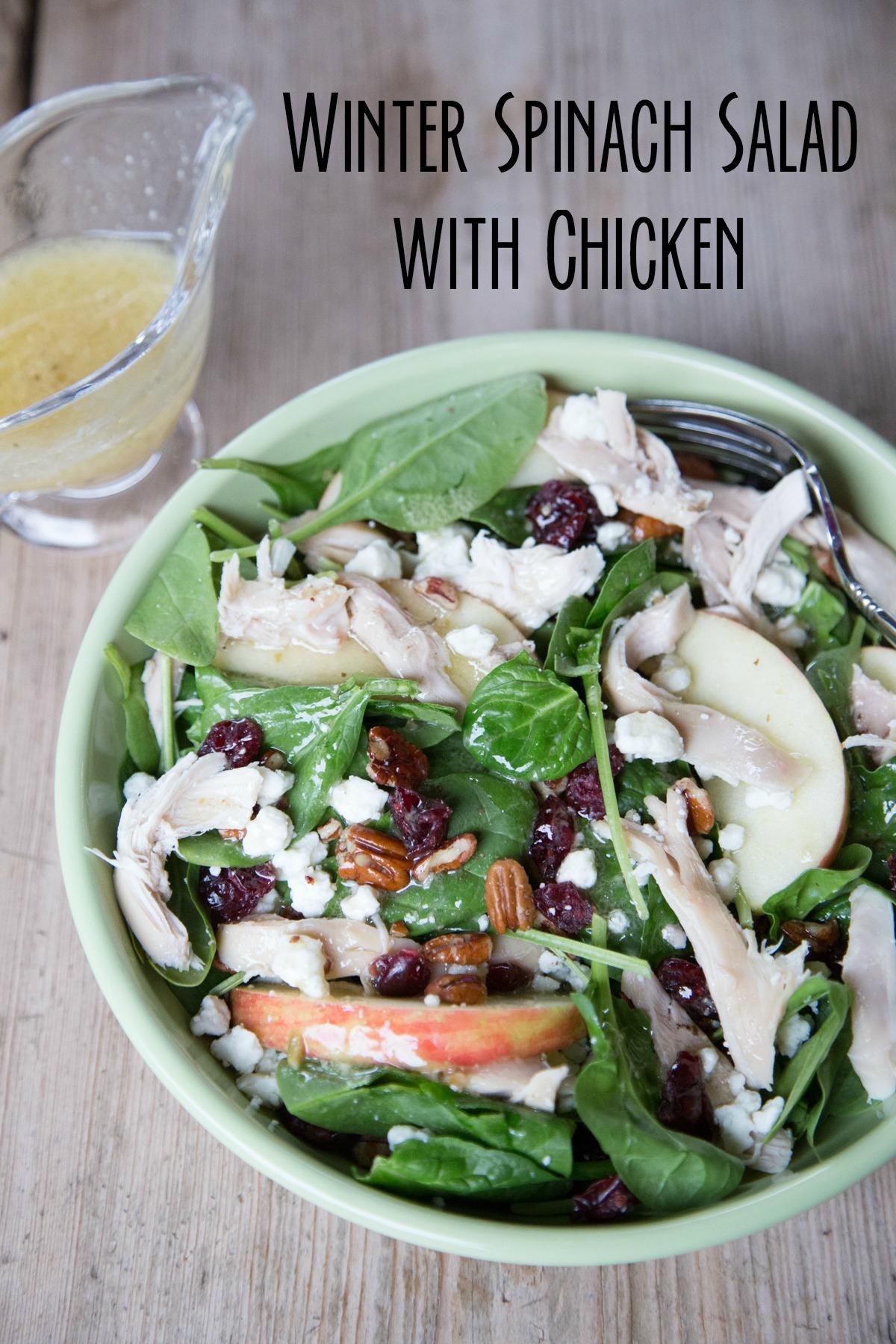 Winter Salad with Rotisserie Chicken Recipe on 5DollarDinners.com