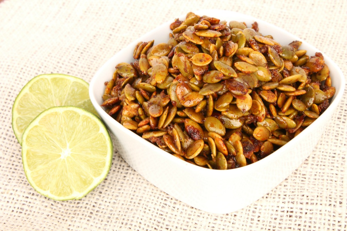 Chili Lime Pumpkin Seeds from 5DollarDinners.com