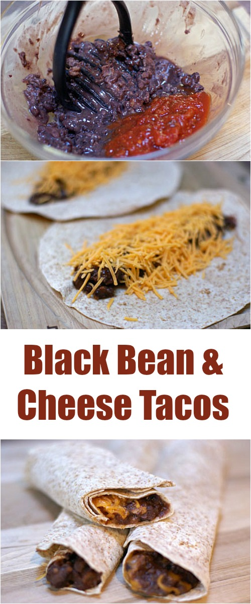 Black Bean and Cheese Tacos from 5DollarDinners.com