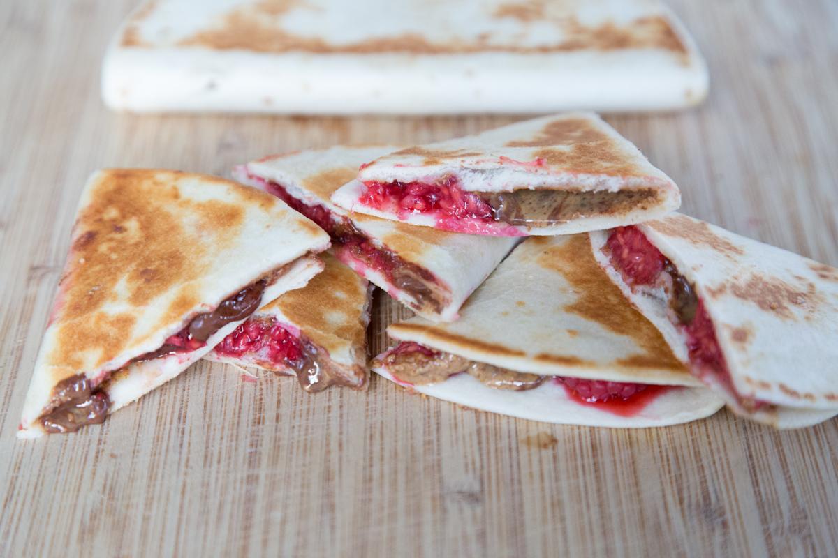 Raspberry Chocolate Chip Quesadillas-2