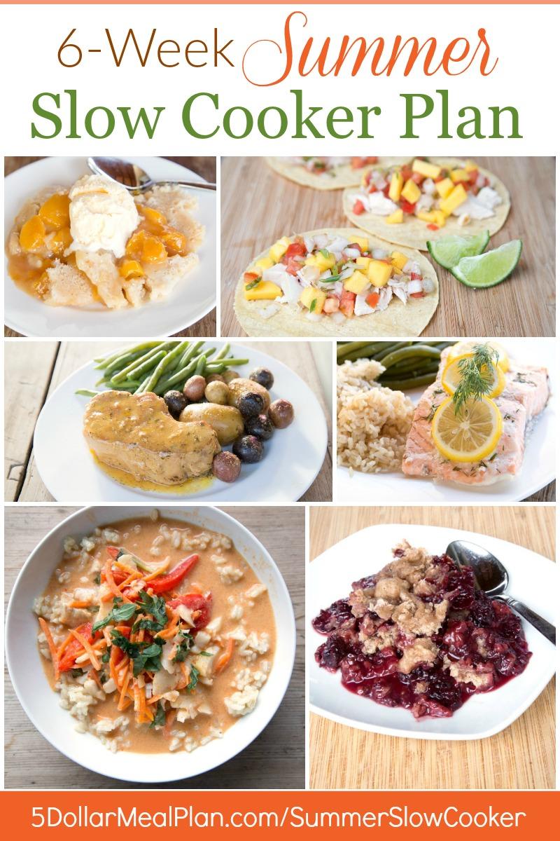 6 Week Summer Slow Cooker Plan