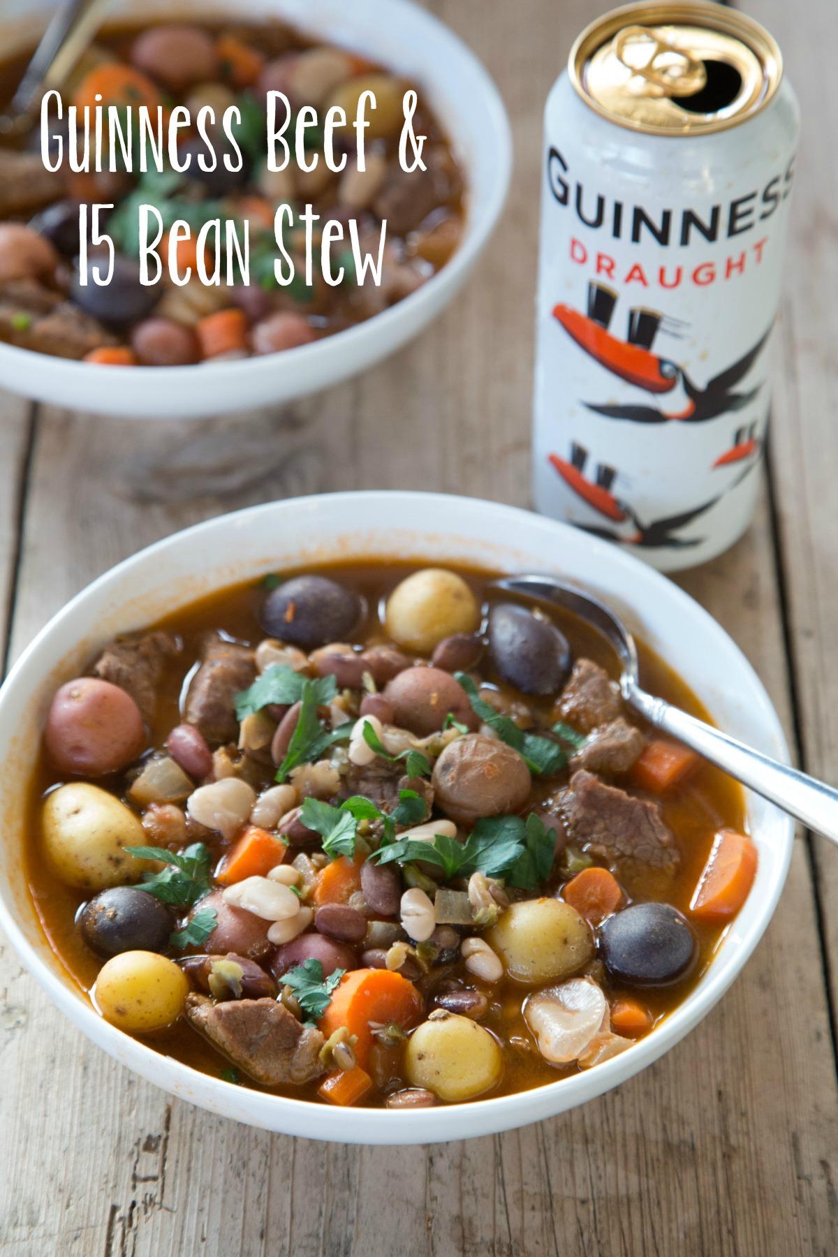 Guinness Beef & 15 Bean Stew on 5DollarDinners.com