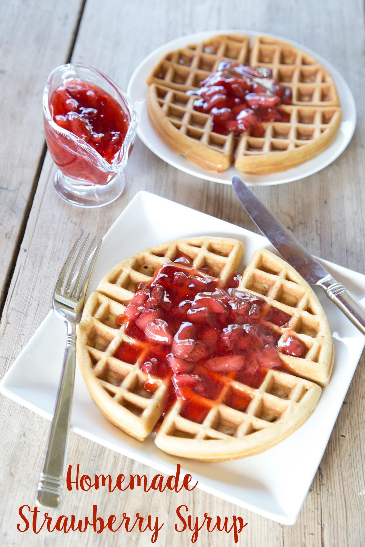 Homemade Strawberry Syrup Recipe on 5DollarDinners.com