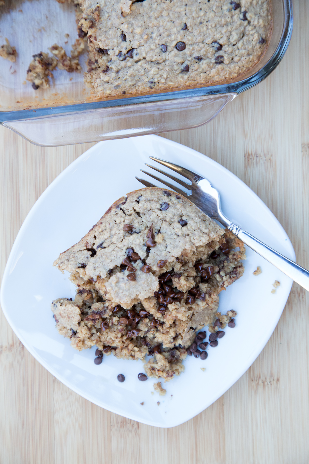 Peanut Butter Chocolate Chip Baked Oatmeal-3