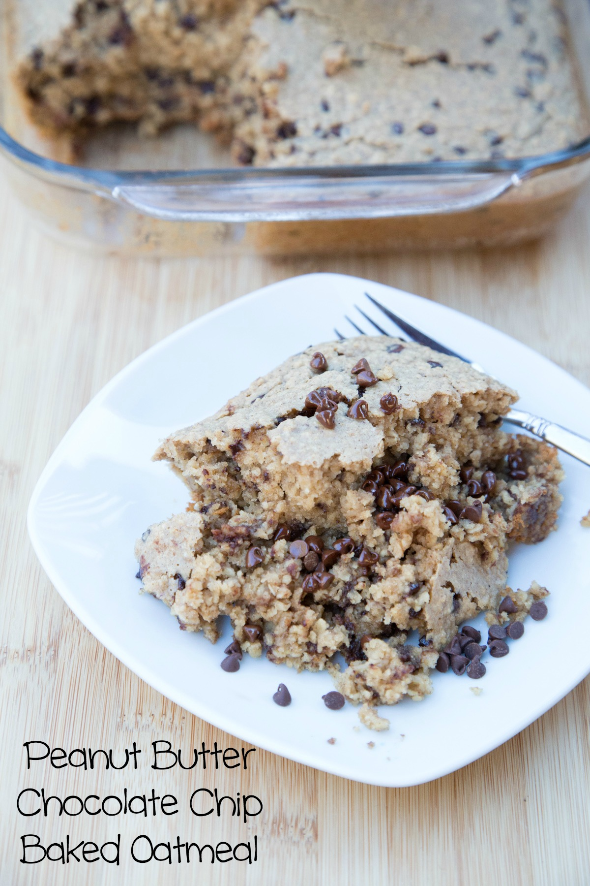 Peanut Butter Chocolate Chip Baked Oatmeal on 5DollarDinners.com