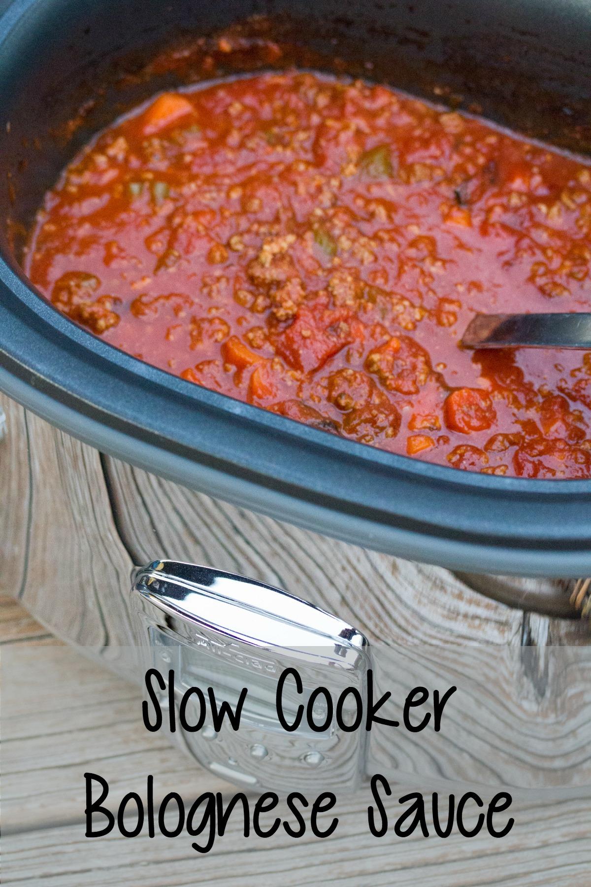 Slow Cooker Bolognese Sauce on 5DollarDinners.com