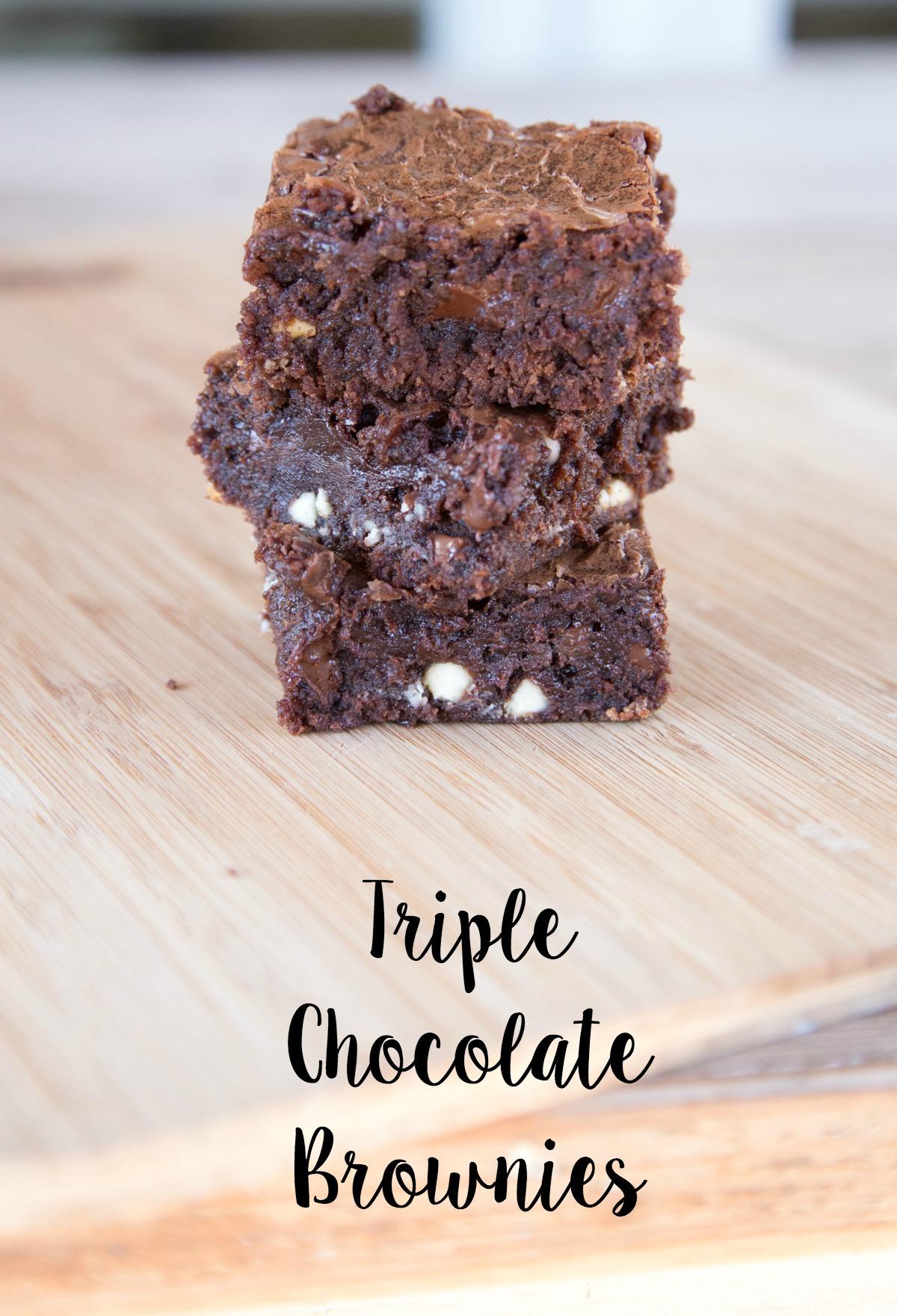 Triple Chocolate Chip Brownies on 5DollarDinners.com