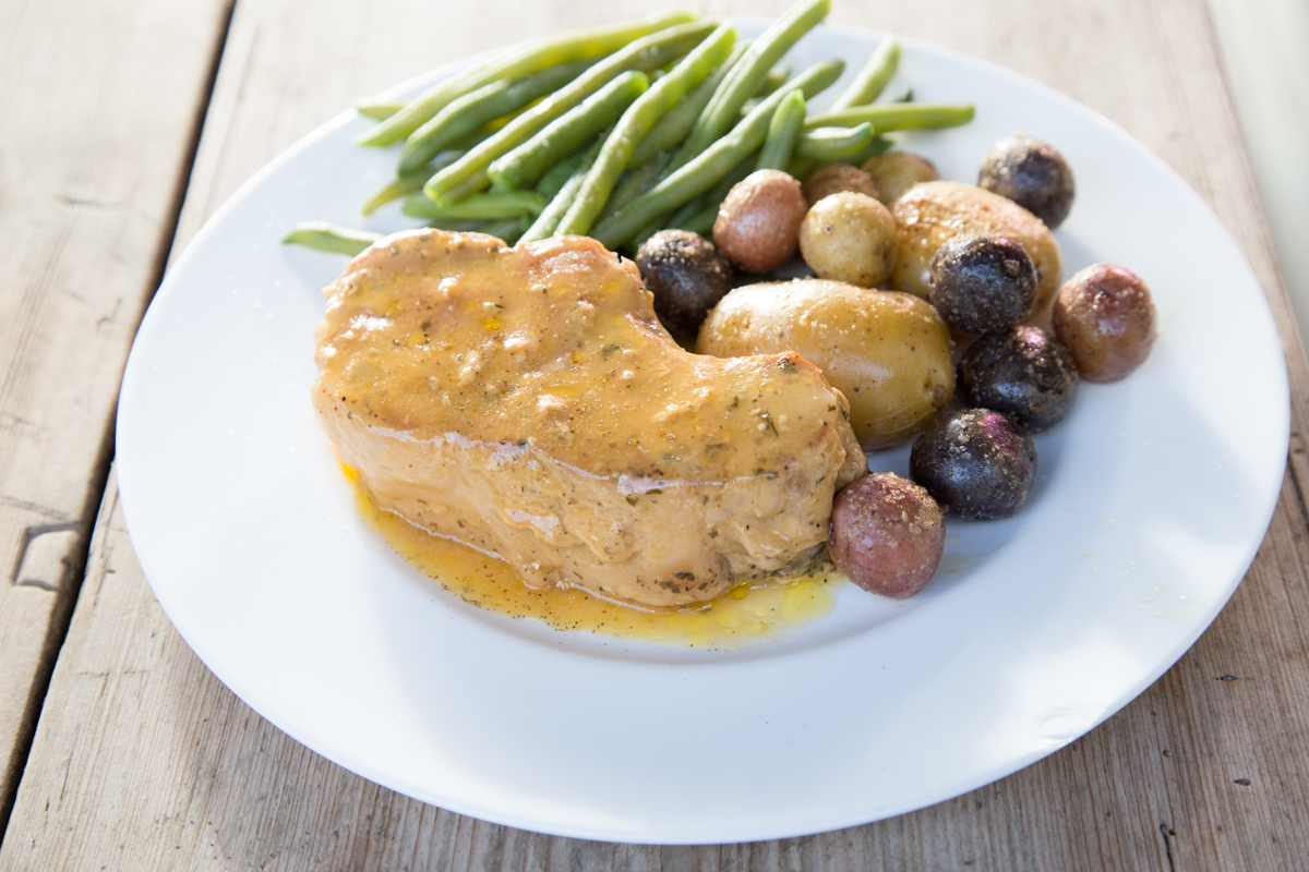 4-Ingredient Creamy Ranch Pork Chops