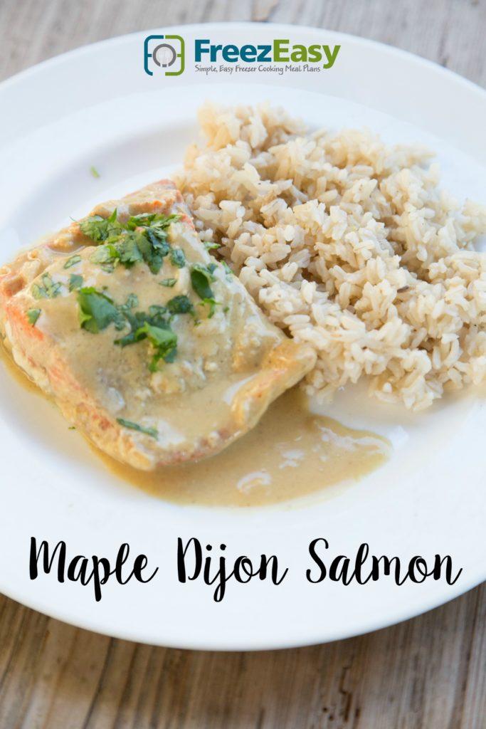 Freezer Friendly Maple Dijon Salmon | FreezEasy.com