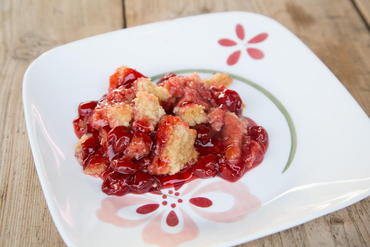Slow Cooker Cherry Cobbler-5