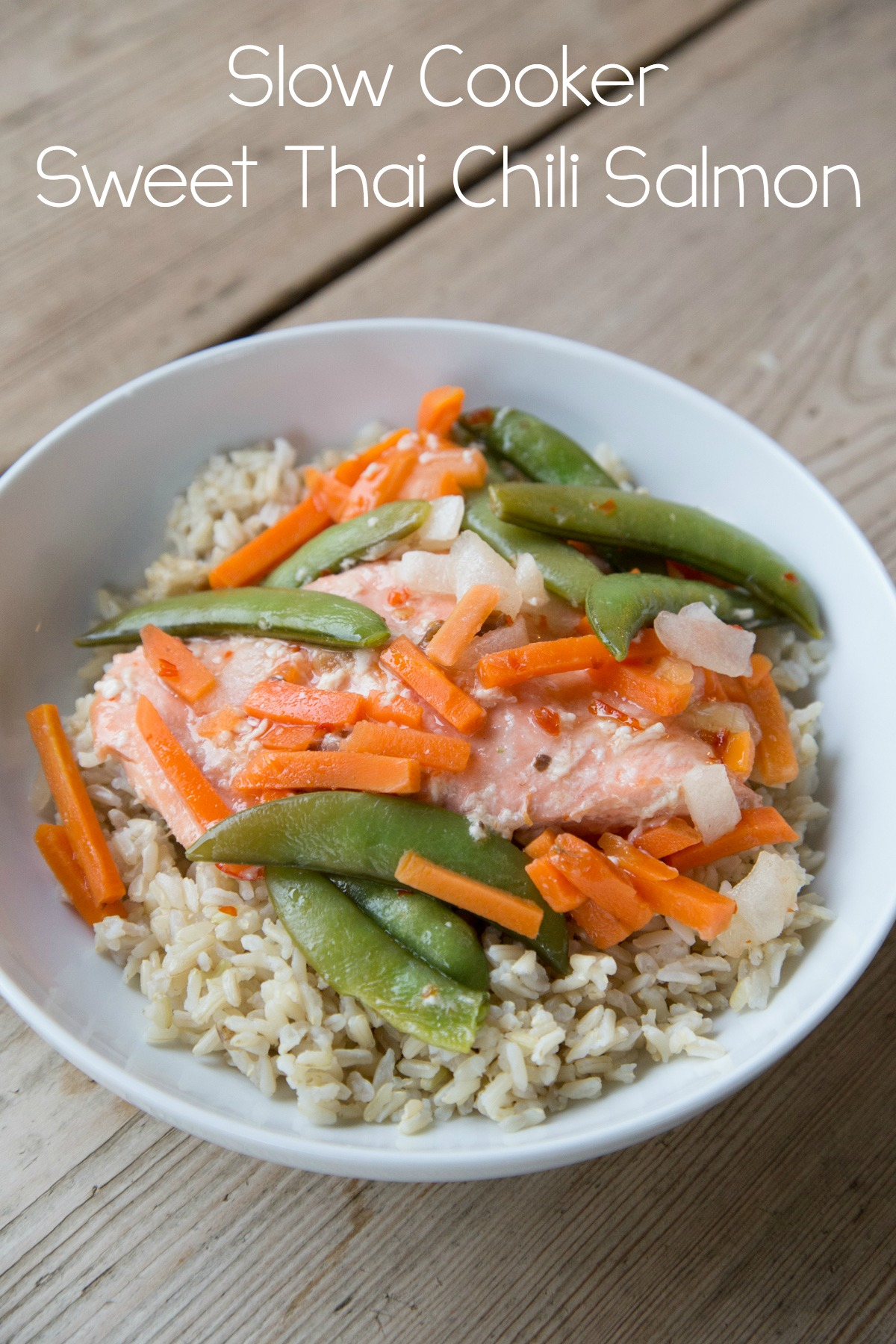 Slow Cooker Sweet Thai Chili Salmon on 5DollarDinners.com