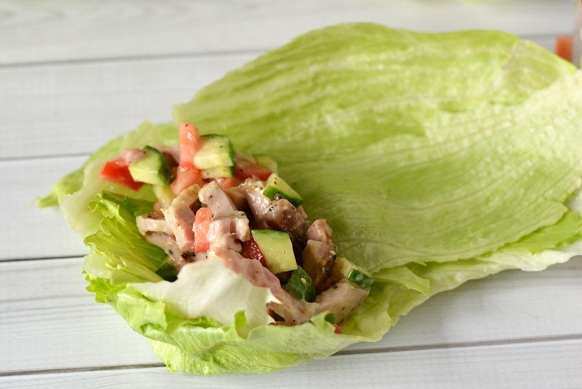 Chicken Caesar Lettuce Wraps from 5DollarDinners.com
