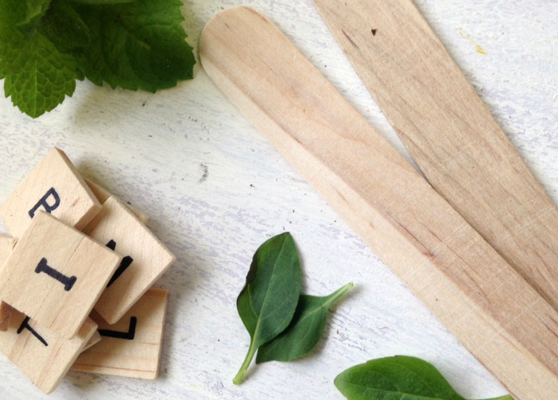 Quick and Easy Instructions for DIY Scrabble Tile Herb Garden Markers