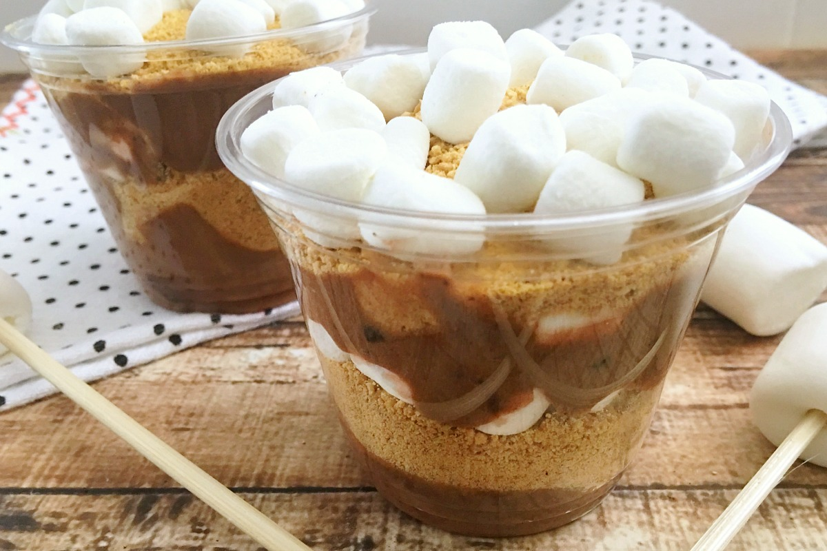 S'mores Pudding Cups Recipe from 5DollarDinners.com