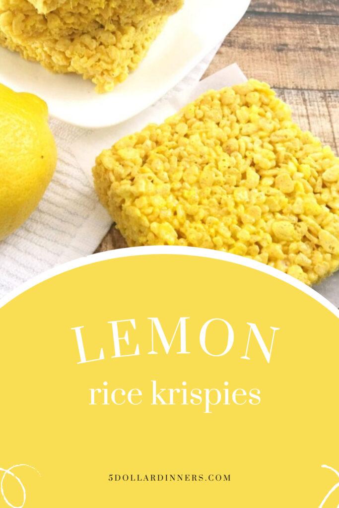 lemon rice krispies