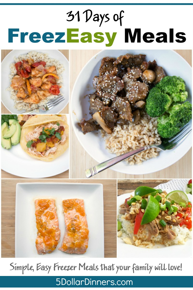 31 Days of FreezEasy Meals