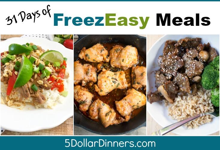 31 days of freezeasy meals SQ