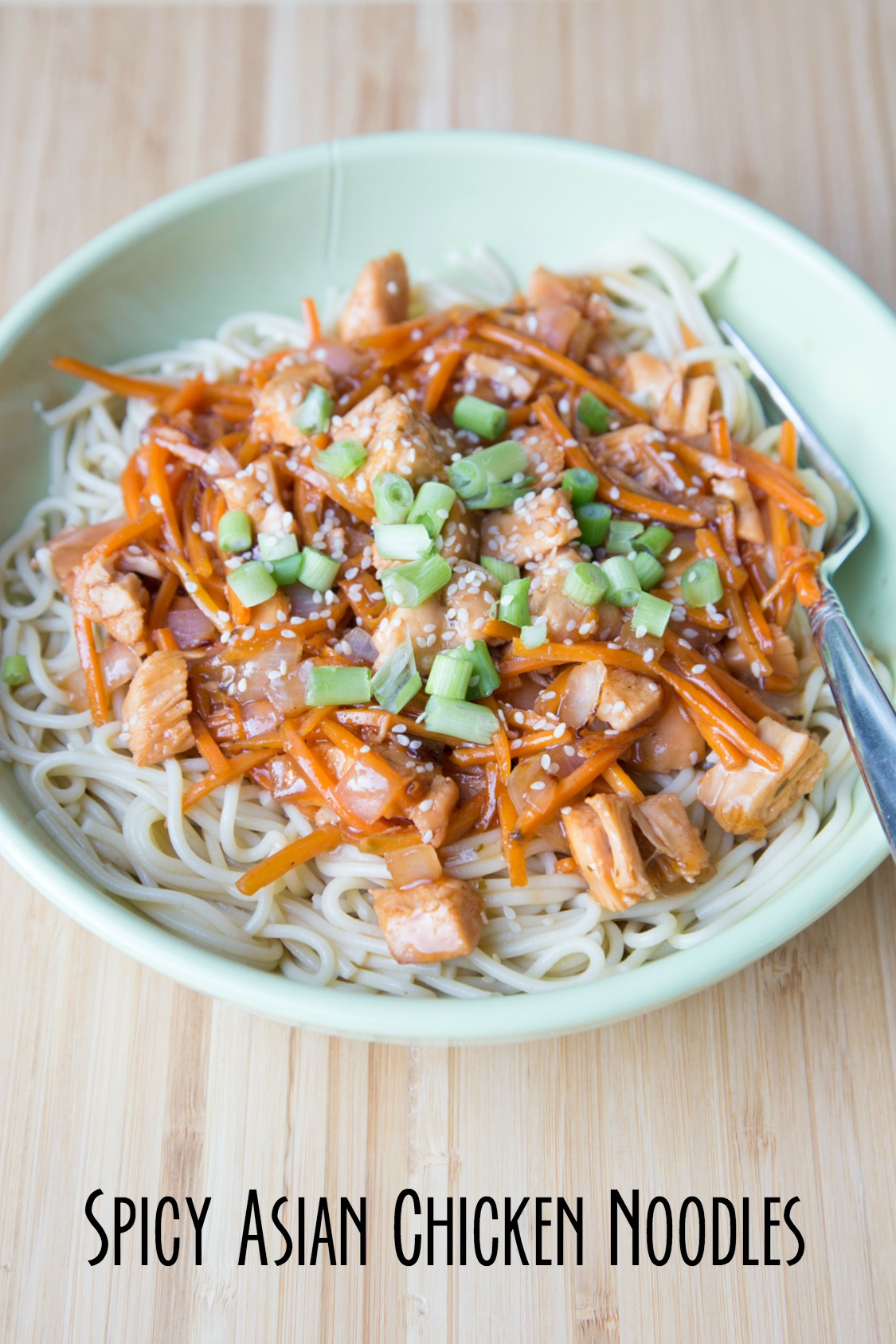 5 Ingredient Spicy Asian Chicken Noodles