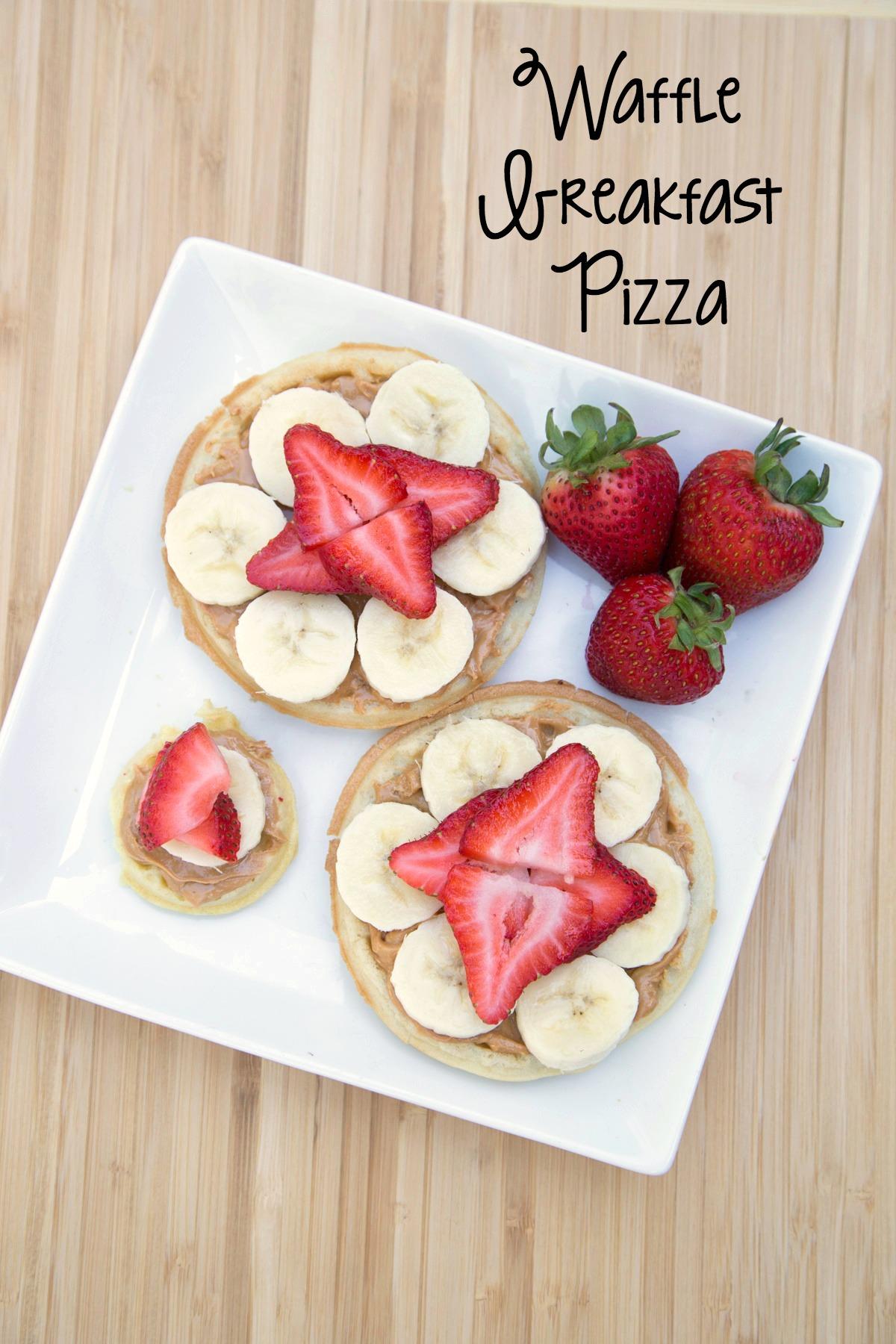 5 Ingredient Waffle Breakfast Pizza