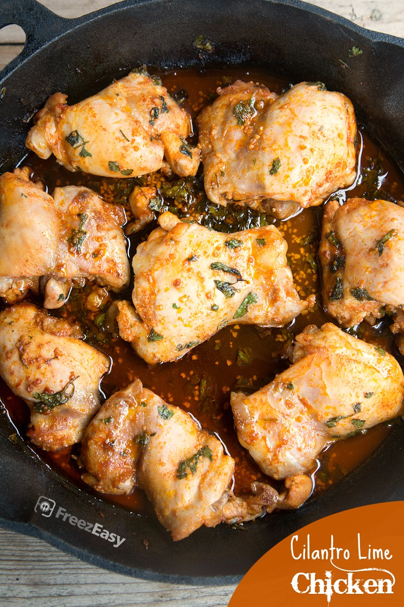 Freezer Friendly Cilantro Lime Chicken from 5DollarDinners.com