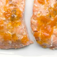5 Ingredient Ginger Peach Salmon Recipe from 5DollarDinners.com
