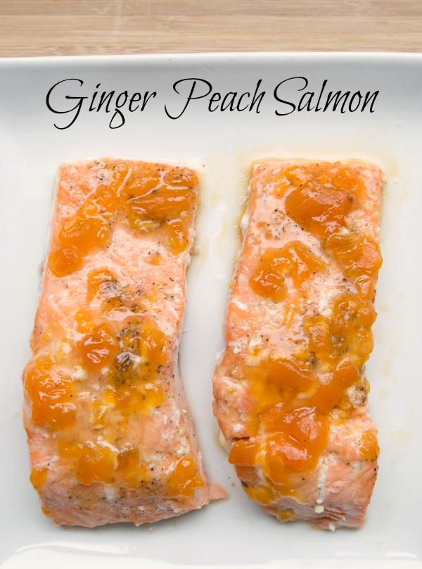 5 Ingredient Ginger Peach Salmon Recipe from 5DollarDinners.com