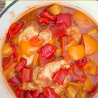 Easy freezer friendly Slow Cooker Caribbean Chicken recipe from 5DollarDinners.com