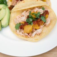 Slow Cooker Mango Salsa Chicken from 5DollarDinners.com