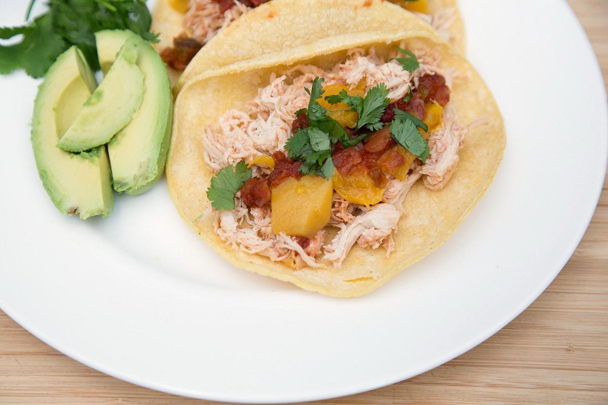 Slow Cooker Mango Salsa Chicken from 5DollarDinners.com