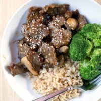 Teriyaki Beef and Veggie Stirfry ~ freezer friendly recipe from 5DollarDinners.com
