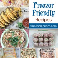Top 10 Favorite Freezer Friendly Recipes from 5DollarDinners.com
