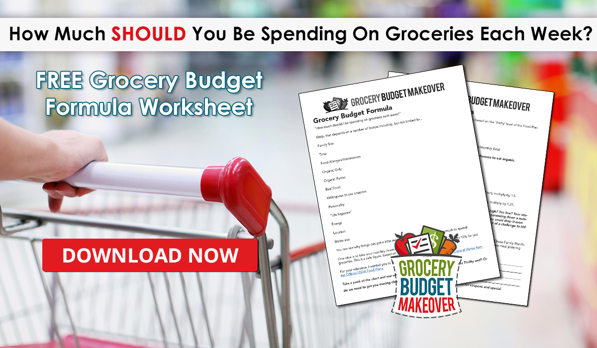 How Much SHOULD You Be Spending On Groceries Each Week?